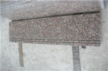 G687 Polished Anti-Slip Granite Stairs & Steps, G687 Peach Red Granite Steps & Risers