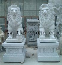 Grey Granite Lion Sculpture/Marble Lion/King Of Forest/Animal Sculptures