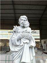 Statue Of Jesus Virgin Mary Sculpture/ Chongwu Sculpture/Human Sculptures/Religious Sculptures, Grey Granite Religious Sculptures