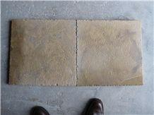 China Shandong Beige Limestone Golden Harvest Bush-Hammered Tiles for Walling