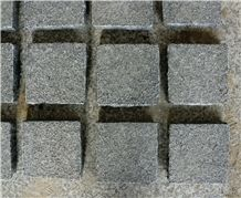 G654/China Impala Black Granite/China Seasame Black Granite Flamed Dark Grey Granite Cube Stone,Cobble Stone for Exterior Pattern Floor Pavers