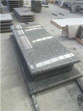 Grey Granite Tombstone & Monument, Swan White Granite Monument & Tombstone