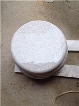 Pearl White Granite Round Tabletops