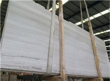 White Wooden Marble Slabs & Tiles, China White Marble