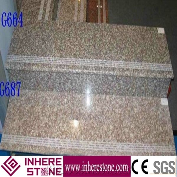 China Pink G664 Granite Stairs U0026 Step, Staircase Tiles, Stair Rise, Stair  Treads