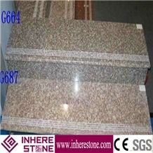 China Pink G664 Granite Stairs & Step, Staircase Tiles, Stair Rise, Stair Treads