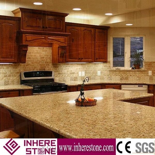 G682 Granite Kitchen Countertops Light Golden Sand Dawa Yellow Padang Leaf Lowes Xiamen Inhere Import Export Co Ltd