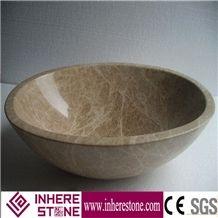 Good Design Emperador Light Brown Marble Sink & Basin, Wash Basin,Wash Sink for Bathroom