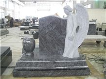 Bahama Blue Granite Angel Tombstones and Monuments