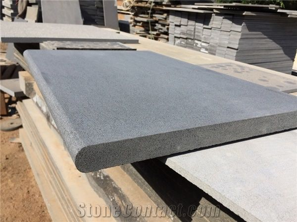 Hainan Black Basalt Pool Coping Bluestone Bullnose Pool