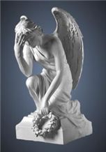 China Han White Marble Angel Sculpture