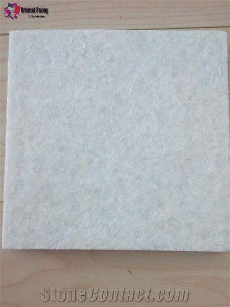 Pure White Quartzite Tile Natural Stone Paving Snow Pavers