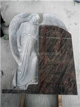 Aurora Granite Angel Tombstones,Angel Monuments,Western Style Tombstones,Single Monuments,Headstones,Gravestones,Family Monuments