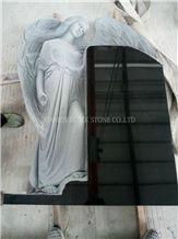 Shanxi Black Granite Angel Tombstones,Angel Monuments,Western Style Tombstones,Single Monuments,Headstones,Gravestones,Family Monuments