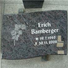 Bahama Blue Granite Stone Tablet Slant Grave Markers