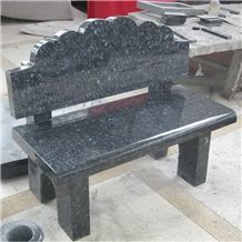 Blue Pearl Granite Cemetery Memorial Bench From China