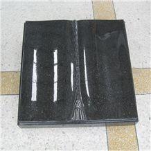 Granite Stone Cemetery Book Shape Grave Markers