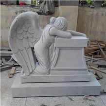 Weeping Angel Headstone Granite Angel of Grief Monument