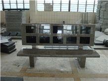 Grey Granite Benches for Grave Cemetery Funeral, Grey Granite Urn, Vase & Bench