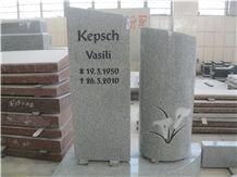 Grey Granite Special Design Headstone Monument, Grey Granite Monument & Tombstone