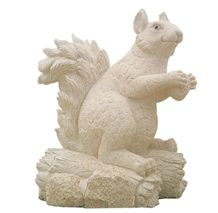China G682 Yellow Granite Landscape Cute Animal Sculpture, Natural Stone Handcarved Garden Decoration Statues Squirrel