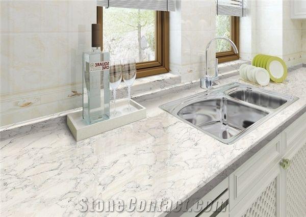 White Body Grey Veins Quartz Stone