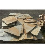 Golden Gneiss Polygonal Flagstone for Walling, Landscaping