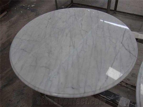 Bianco Carrara Marble Table Tops Patio Round