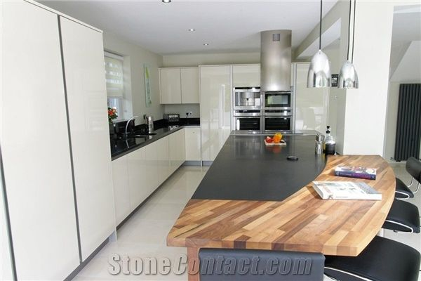 Nero Assoluto Zimbabwe , Nero Assoluto Granite Satin Surface Kitchen Countertop From United