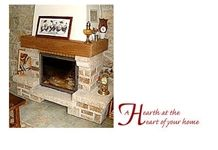 Jaune Aurora Granite Enclosed Fireplace