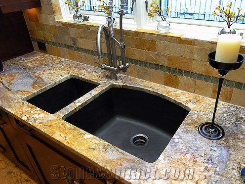 Typhoon Bordeaux Granite With A 3cm Eased Edge Kitchen