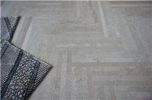Zion Beige Marble Parquet Floor Tiles