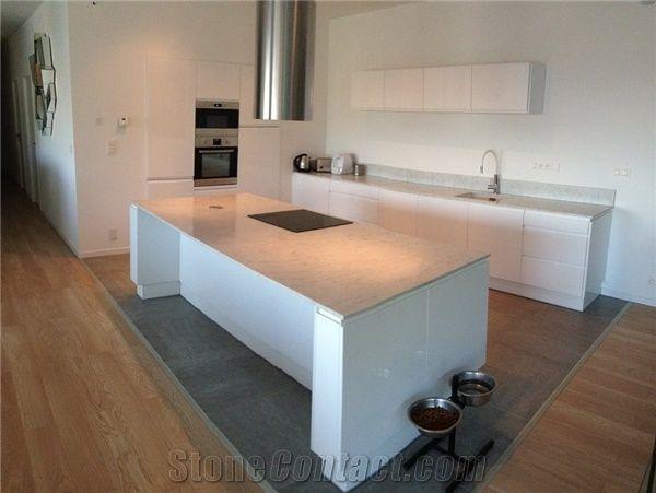 Fine Carrara White Marble Satin Finish 2Cm Kitchen Island Top Machost Co Dining Chair Design Ideas Machostcouk