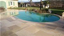 Pierre Dure De Dordogne Limestone Swimiing Pool Paverment