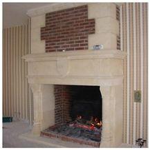 Les Pierres De Frontenac Limestone Carved Fireplace Design
