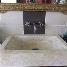 Les Pierres De Frontenac Limestone Solid Wash Basin
