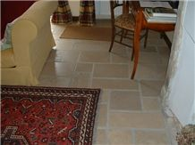 La Grosse Borne Limestone Brushed Opus Romano Pattern, Beige France Limestone Tiles & Slabs