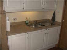 La Grosse Borne Limestone Satin Kitchen Bench Top, Beige France Limestone Kitchen Countertops