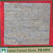 Cladding Slate,Yellow Ledgestone Veneer Panels,Natural Cultured Stone
