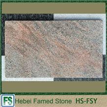 Hot Sale Natural Quartzite Tile,Flamed Pink and Grey Quartzite Floor Tiles