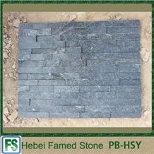 Natural Surface Black Cultural Stone,Chinese Cheap Stacked Stone, Bright Black Cultured Stone