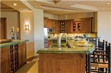 Wasabi Quartzite Kitchen Countertop, Green Quartzite Countertops