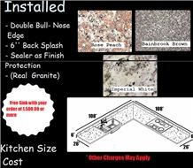 Bain Brook Brown Granite Double Bull- Nose Edge Kitchen Countertops