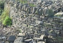Hard York Grey Sandstone Dry Stone Walling, Grey Sandstone Uk for Garden Palisad