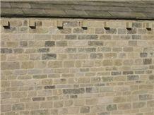 Reclaimed Flat Faced Delph Walling, Yorkshire Coarse Gritstone Sandstone for Building & Walling, Beige Sandstone Uk