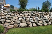 Fieldstone Garden Boulder Retain Wall
