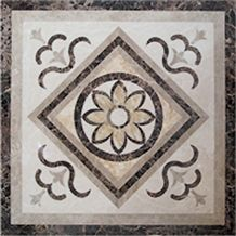 China Brown Marble Medallion Pattern