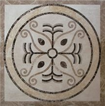 China Multicolor Marble Natural Stone Floor Waterjet Medallion, Medallion
