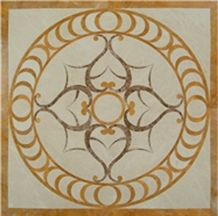 China Multicolor Marble Waterjet Designs Water Jet Medallion
