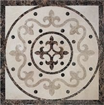 China Multicolor Marble Waterjet Medallion, Waterjet Spare Parts, Marble Flooring Tile & Covering